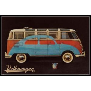 フォルクスワーゲン・キャンパー ポスターフレームセット VW Camper Paint Advert|posterbin2