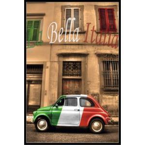 LA BELLA ITALIA フィアット・500 チンクェチェント ポスターフレームセット(151021)|posterbin2