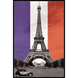 VIVA LA FRANCE エッフェル塔 シトロエン ポスターフレームセット(151021)|posterbin2