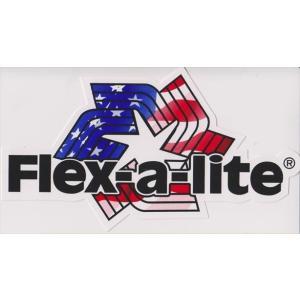 【送料¥216〜】 オフィシャル ツールボックスサイズ・デカール(ステッカー)Flex-A-Lite 4″ Die-Cut Decal|posterbin2
