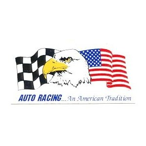 【送料¥216〜】 オフィシャル ツールボックスサイズ・デカール(ステッカー)Auto Racing...An American Tradition|posterbin2