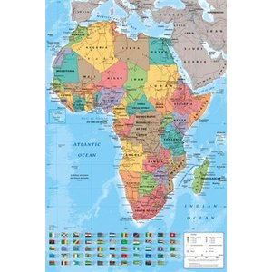 アフリカ地図 ポスター Africa Map (131108)