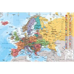【送料¥290〜】 ヨーロッパ地図 ポスター European Map【世界地図】(140620)