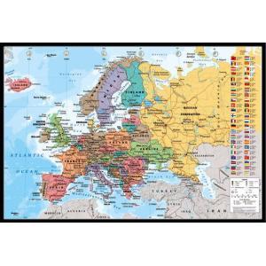 ヨーロッパ 地図 ポスター フレームセット EUROPEAN MAP【191118】