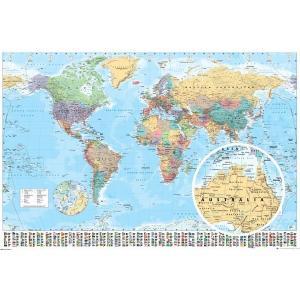 世界地図 ポスター WORLD MAP 2015 GN0214