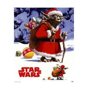 スターウォーズ クリスマスバージョン ヨーダ ミニポスター|posterbin2