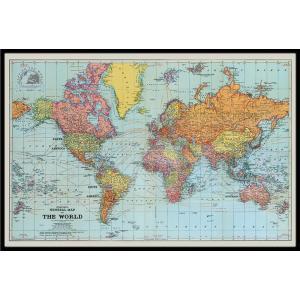 世界地図 ポスター フレームセット  Stanfords General Map Of The Wo...