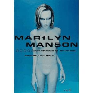 マリリン マンソン メカニカルアニマルズ  プロモ ポスター|posterbin2