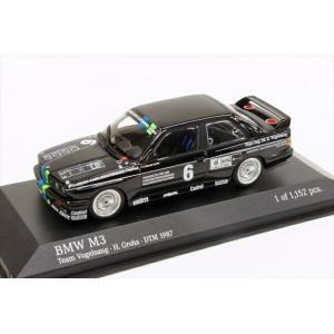 ミニチャンプス 1/43 BMW M3 E30 フォーゲルサング No.6 1987 DTM H.グロー 完成品ミニカー 430872006|posthobbyminicarshop