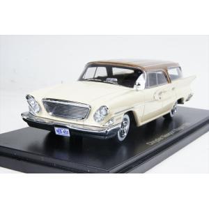 ネオ 1/43 クライスラー ニューポートワゴン 1961 ベージュ/ブラウン 完成品ミニカー NEO46455 posthobbyminicarshop