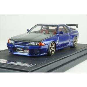 イグニッションモデル 1/43 日産 スカイライン GT-R ニスモ R32 ブルー 完成品ミニカー IG0961