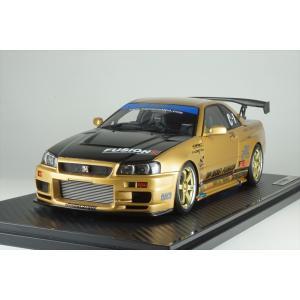 イグニッションモデル 1/18 トップシークレット GT-R BNR34 ゴールド  完成品ミニカー IG1476 posthobbyminicarshop