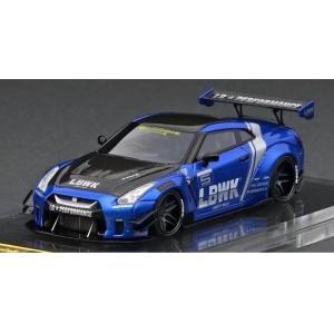 イグニッションモデル 1/64 LB-WORKS ニッサン GT-R R35 type 2 ブルー ...