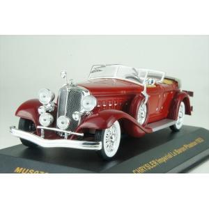 イクソモデル 1/43 クライスラー インペリアル ルバロン フェートン 1933 レッド 完成品ミニカー MUS070 posthobbyminicarshop
