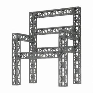 ホビーベース 鉄骨トラス シルバー 模型用グッズ PPC-K39SV|posthobbyshop