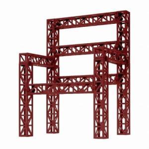 ホビーベース 鉄骨トラス レッド 模型用グッズ PPC-K39RD|posthobbyshop