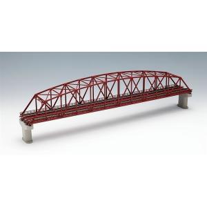 TOMIX トミックス (3221) 複線曲弦大トラス鉄橋 F 赤 複線PC橋脚・2本付|posthobbyshop