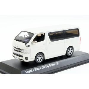 ミニカー 京商 (KS03861W) 1/43 トヨタ ハイエース 2014年 ホワイト