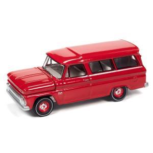 【12月予約】AUTOWORLD 1/64 シェビー サバーバン 514 レッド 1966 完成品ミニカー AWSP073A posthobbyshop