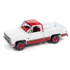 【12月予約】AUTOWORLD 1/64 シェビー シルバラード 10 グロスホワイト/カーマインレッド 1983 完成品ミニカー AWSP074B posthobbyshop