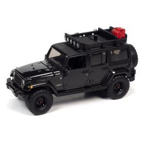 【12月予約】AUTOWORLD 1/64 ジープ ラングラー サハラ アンリミテッド 2017 ブラック オフロード 完成品ミニカー AWSP077B posthobbyshop