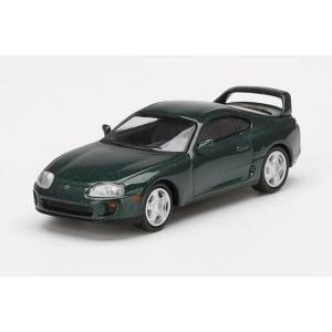 【5月予約】MINI GT 1/64 トヨタ スープラ ダークグリーンパールメタリック 左ハンドル ...