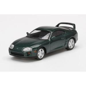【5月予約】MINI GT 1/64 トヨタ スープラ ダークグリーンパールメタリック 右ハンドル ...