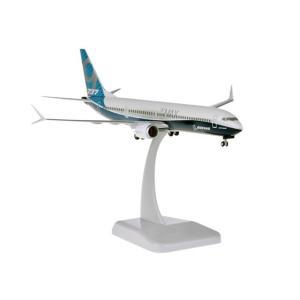 ホーガンウィングス 1/200 B737 MAX 9 ボーイング ハウスカラー プラスチック製、ランディングギア/スタンド付属 完成品 艦船・飛行機 10871GR|posthobbyshop