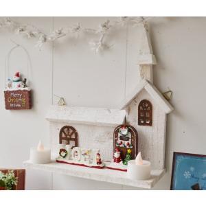 クリスマス雑貨 クワイエットヒルチャーチW クリスマス飾り クリスマスオーナメント クリスマス ディスプレイ 置物 雑貨 飾り付け|potafleurs