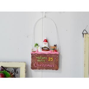 クリスマス雑貨 ショコラクッキーサンタハング クリスマス飾り クリスマスオーナメント クリスマス ディスプレイ 置物 雑貨 飾り付け|potafleurs