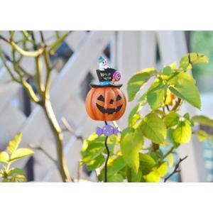 ハロウィン飾り キャンディドットゴーストピック ハロウィン雑貨 ハロウィンピック ガーデンピック ハロウィン 庭 飾り ピック かぼちゃ パンプキン|potafleurs