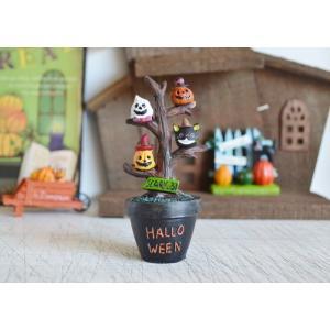 ハロウィン飾り カルテットルノワールツリー ハロウィン雑貨 ハロウィングッズ 置物 ディスプレイ ミニチュア かぼちゃ パンプキン|potafleurs