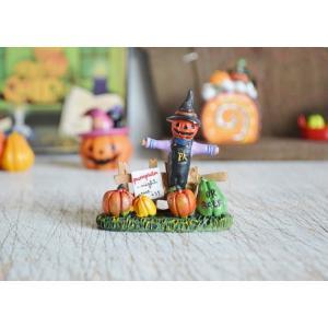 ハロウィン飾り フィールドパンプキンスケアクロー ハロウィン雑貨 ハロウィングッズ 置物 ディスプレイ ミニチュア かぼちゃ パンプキン|potafleurs