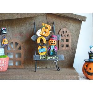 ハロウィン飾り ブーウッドパンプキンラダーハング ハロウィン雑貨 ハロウィングッズ 置物 ディスプレイ ミニチュア かぼちゃ パンプキン|potafleurs