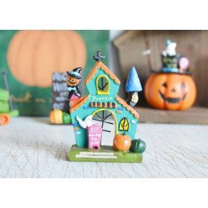 ハロウィン飾り キャンディーポップジャックハウス ハロウィン雑貨 ハロウィングッズ 置物 ディスプレイ ミニチュア かぼちゃ パンプキン|potafleurs