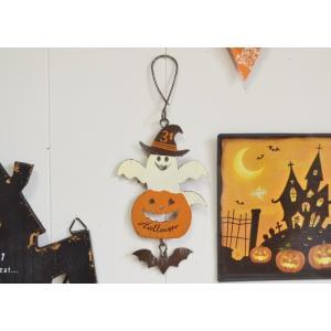 ハロウィン飾り トリックスプーキーズゴーストハング ハロウィン雑貨 ハロウィングッズ 壁掛け 壁飾り アイアンプレート プレート|potafleurs