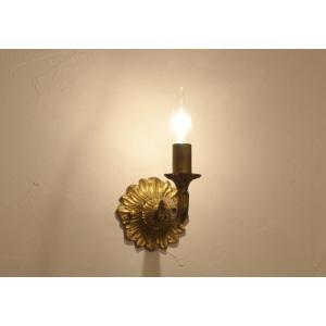 ウォールランプブラケット灯具キャンドルアンティークゴールド potafleurs