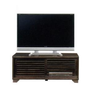 テレビ台 引戸 NEW古都120ハイタイプ TVボード(ブラウン)|potarico
