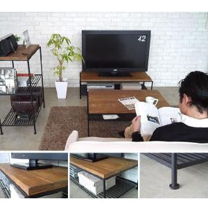 テレビ台 ローボード アンティーク 木製 アイアン 棚 KELT ケルト|potarico|02
