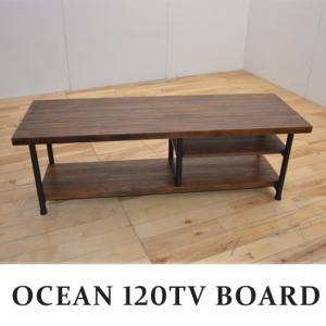 木製 テレビボード 120 テレビ台 オーシャン 120 TVボード|potarico