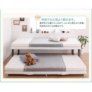 ベッド 親子ベッド スライド収納 シングル シングルベッド 2段ベッド 省スペース スチール脚 おしゃれ スライド式親子ベッド potarico 16