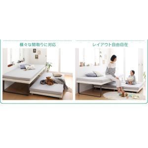 ベッド 親子ベッド スライド収納 シングル シングルベッド 2段ベッド 省スペース スチール脚 おしゃれ スライド式親子ベッド potarico 04