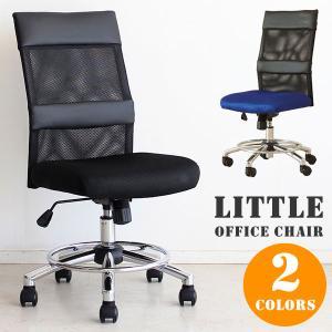 オフィスチェア チェア 椅子 キャスター付 ガス圧昇降式 ラクラク昇降 黒 リトルオフィスチェアー(BK)-tm|potarico