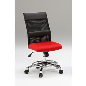 オフィスチェア チェア 椅子 事務 デザイン キャスター付 ガス圧昇降式  赤 黒 リトルオフィスチェアー(RED)-tm|potarico