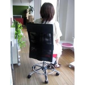 オフィスチェア チェア 椅子 事務 デザイン キャスター付 ガス圧昇降式  赤 黒 リトルオフィスチェアー(RED)-tm|potarico|03