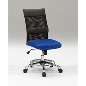 オフィスチェア 椅子 チェア スタイリッシュ デザイン キャスター付 ガス圧昇降式  青 黒 リトルオフィスチェアー(BL)-tm|potarico