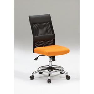 オフィスチェア チェア 椅子 スタイリッシュ キャスター 事務 オレンジ 黒 リトルオフィスチェアー(OR)-tm|potarico