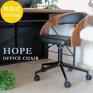 オフィスチェア チェア パソコンチェア 木製 背もたれ キャスター 高さ調節 ホープオフィスチェア|potarico