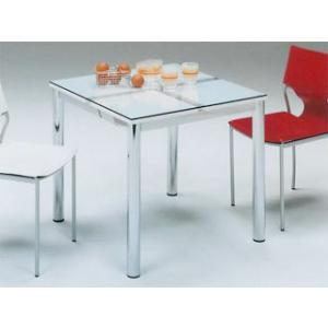 食卓テーブル テーブル ダイニングテーブル人気ガラス製ホワイト ◇Nフレスコ 80-tm potarico