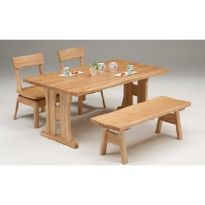 ダイニングテーブル 4人 ベンチタイプ 平安160ダイニング4点セット|potarico